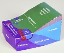 Papel model of a watershed