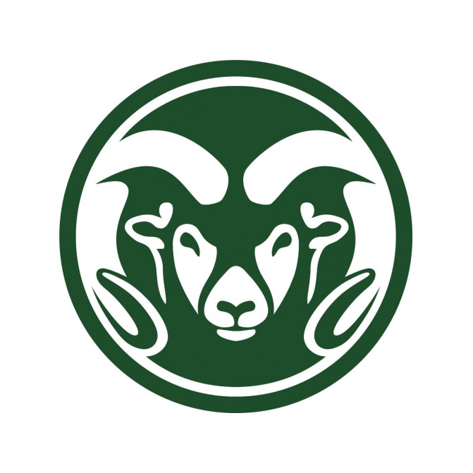 CSU Rams Head Mark in Green on White